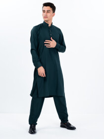 Men Slim Fit Green Super Soft Kurta Pajama
