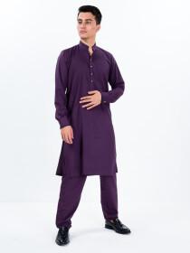 Men Slim Fit Putple Super Soft Kurta Pajama