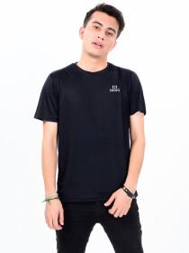 Men's Black Custom Fit Crew Neck T-Shirt
