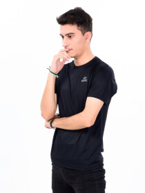 Men's Black Custom Fit Crew Neck T-Shirt