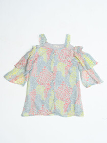 PrincessRainbow Colors Dress For Baby Girl