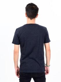 MenBlack & White Cotton V-Neck Tee Shirt