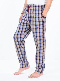 Pink & Black Multi Check Cotton Relaxed Pajama with zipper side pockets