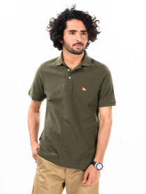 Olive Green Men's Polo Shirts