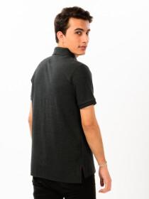 Charcoal Grey Men's Polo Shirt