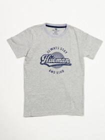 Boys' GreyShort Sleeve T-Shirt Crew Neck