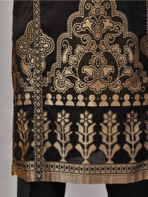 Black Embroidered JacquardStitched 2pcs Suitfor Women