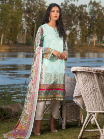 Mint Embroidered LawnStitched Suitfor Women