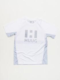 Boys' White Short Sleeve T-Shirt Round Neck