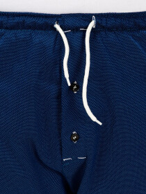 Navy BlueCotton Relaxed Pajama with zipper side pockets