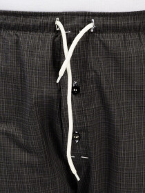 CharcoalCotton Relaxed Pajama with zipper side pockets
