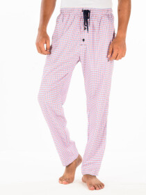 Pink & Multi Check Cotton Relaxed Pajama with zipper side pockets