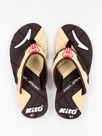 Brown & Beige Kito Flip Flop for Men
