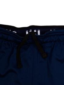 Men's Navy Blue Tech Graphic Shorts