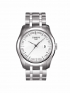 Couturier gents watch silver dial with silver bracelet