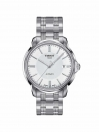 Automatic III Date gents watch white dial with grey bracelet