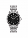 Automatic III Date gents watch black dial with grey bracelet