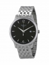 Tradition gents watch anthracite colour dial with grey bracelet