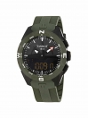 T-Touch Expert Solar II Men's watch black dial with green silicone strap