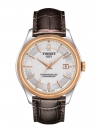 Ballade Powermatic 80 COSC Men's watch silver dial with brown leather strap