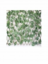 EXPANDABLE GREEN GARDEN FENCE WITH ARTIFICIAL LEAVES AND WOODEN FRAME LARGE