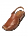 Brown Round Shape Men Peshawari Chappal