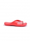 RED-BLACK-WHITE WOMEN'S FLIP-FLOPS