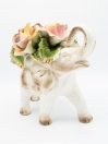 Porcelain Flower Elephant