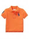 Cotton Mesh Polo Shirt - Orange