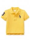 Cotton Mesh Polo Shirt - Yellow