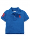 Cotton Mesh Polo Shirt - Sapphire Blue