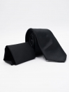 Black Plain Reg Tie