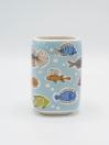 Bathroom Set Multicolor Fish Design 4Pcs Set