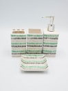Bathroom Set Multicolor Stripes Design 4Pcs Set