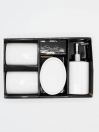 Bathroom Set White 4Pcs Set