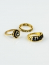 Gold Plated Cubic Zirconia italian rings