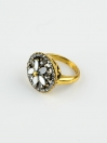 Amazing Gold Plated cubic zarconia Ring