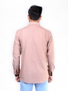 CUSTOM FIT SHIRT CF BD BROWN SELF DOT
