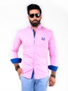 SLIM FIT  SHIRT EMBROIDERY PINK