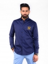 CUSTOM FIT KC SHIRT GOK NAVY EMB GOLD