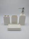 Bathroom Set White Color 4Pcs Set
