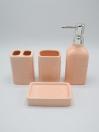 Bathroom Set Pink Color 4Pcs Set