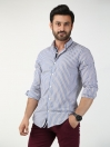 Multicolored Striped Regular Fit  Casual Shirt