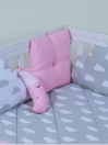 Pink/Grey 10 Pcs Cot Bedding Sets