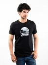 Black Printed Slim Fit Round Neck T-Shirt