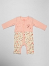 Peach Printed Newborn Baby Girl Romper