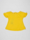 Yellow Solid Baby Girl Top