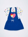 Multi Colored Baby Girl 2 Piece Frock