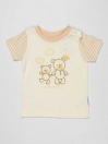 Beige Printed Cotton Baby Boy T-Shirt