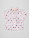 White Printed Baby Boy Casual Shirt